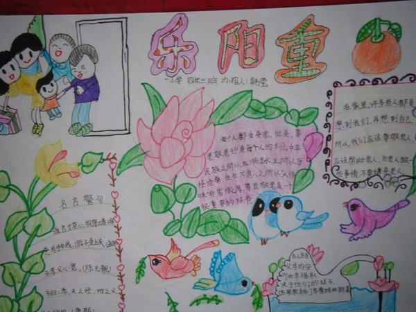 尊老爱亲手抄报 关于春节尊老爱亲的画 关于尊老敬老的手抄报图片